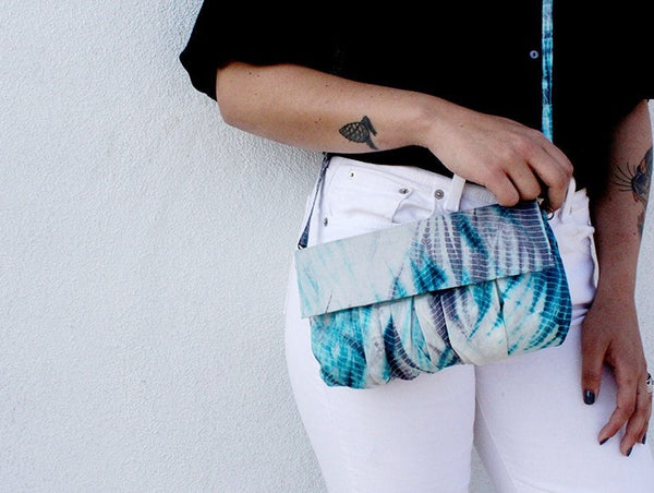 Malia Designs Fair Trade Silk Tie Dyed Clutch