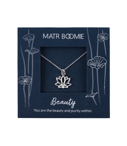 Shanasa Sterling Silver Lotus Flower Necklace by Matr Boomie - accessories, charm, charm necklace, sterling silver, Necklaces, necklace, day, design, fair-trade, gift, gifts, silver, handmade, her, jewelry, mothers