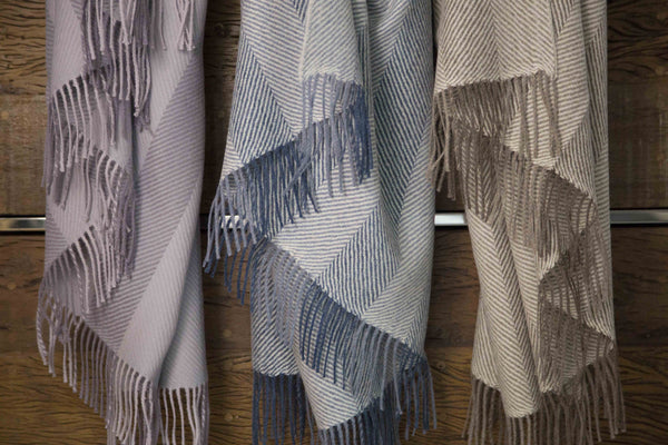Medium Weight Herringbone Alpaca Throws - Throw Blankets - Shop Nectar - 1