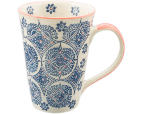 Handpainted Mehndi Tall Mug