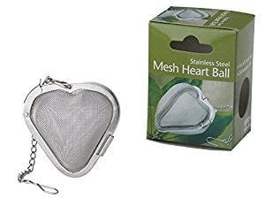 Tea Stainless Steel Mesh Wonder Ball Heart - coffee-teaware, Divinitea, infusers-tea-bags-strainers, kitchen-dining, Stainless Steel, sweets-savories, tea, Tea Infuser