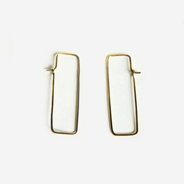 meyelo chiku fair trade brass earrings- shopnectar