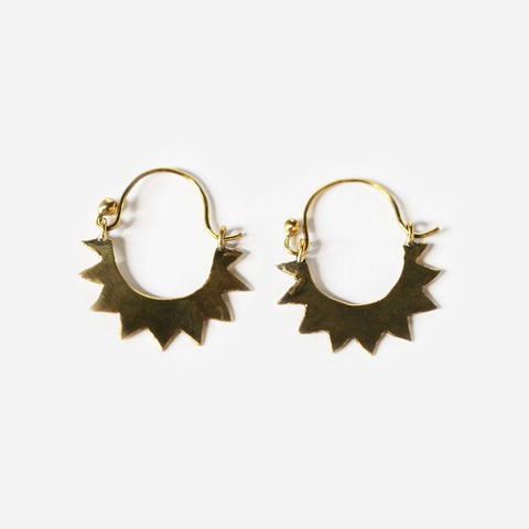 meyelo saada fair trade brass earrings- shopnectar