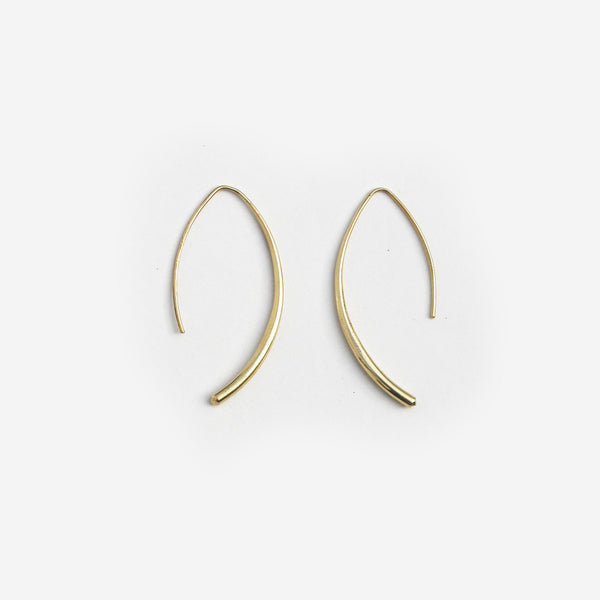 Meyelo Fair Trade Brass Curve Earrings