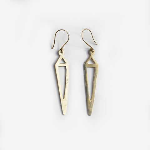 Meyelo Brass Steeple Fair Trade Earrings - accessories, Artisan, brass, clean-water, drop-earrings, earrings, Eco, eco-friendly, education, fair trade jewelry, fair-trade, Handcrafted, jewelry, Kenya, locally sourced, Meyelo, Steeple, supporting-women, Sustainable, up-cycle