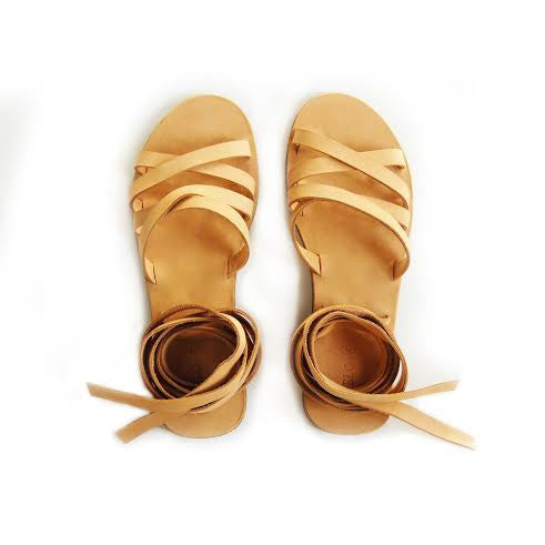 Meyelo Onika Wrap Leather Fair Trade Sandals - Sandals - Shop Nectar