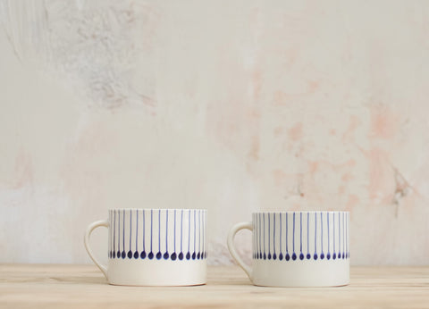 Nkuku Fair Trade Iba Ceramic Dishware Collection (Indigo)