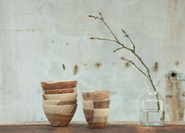 Nkuku Fair Trade Sheesham Wood Bowls