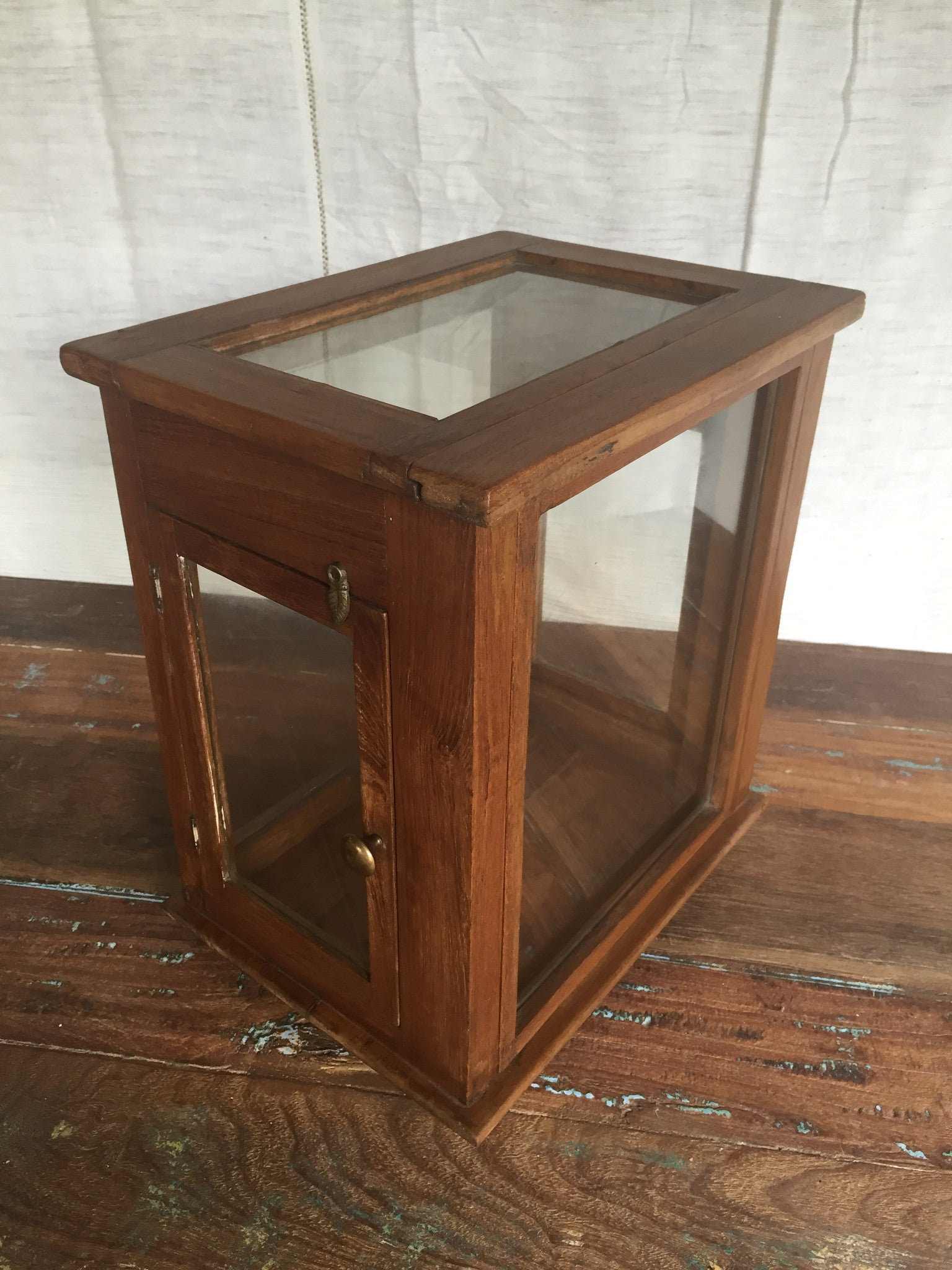 Small Antique Glass Display Case