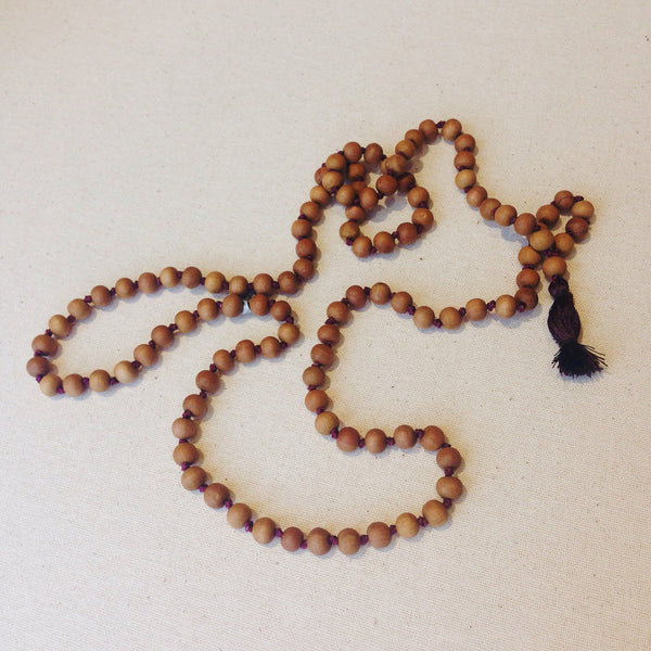 Sandalwood Mala Bead Necklace - Necklaces - Shop Nectar - 1