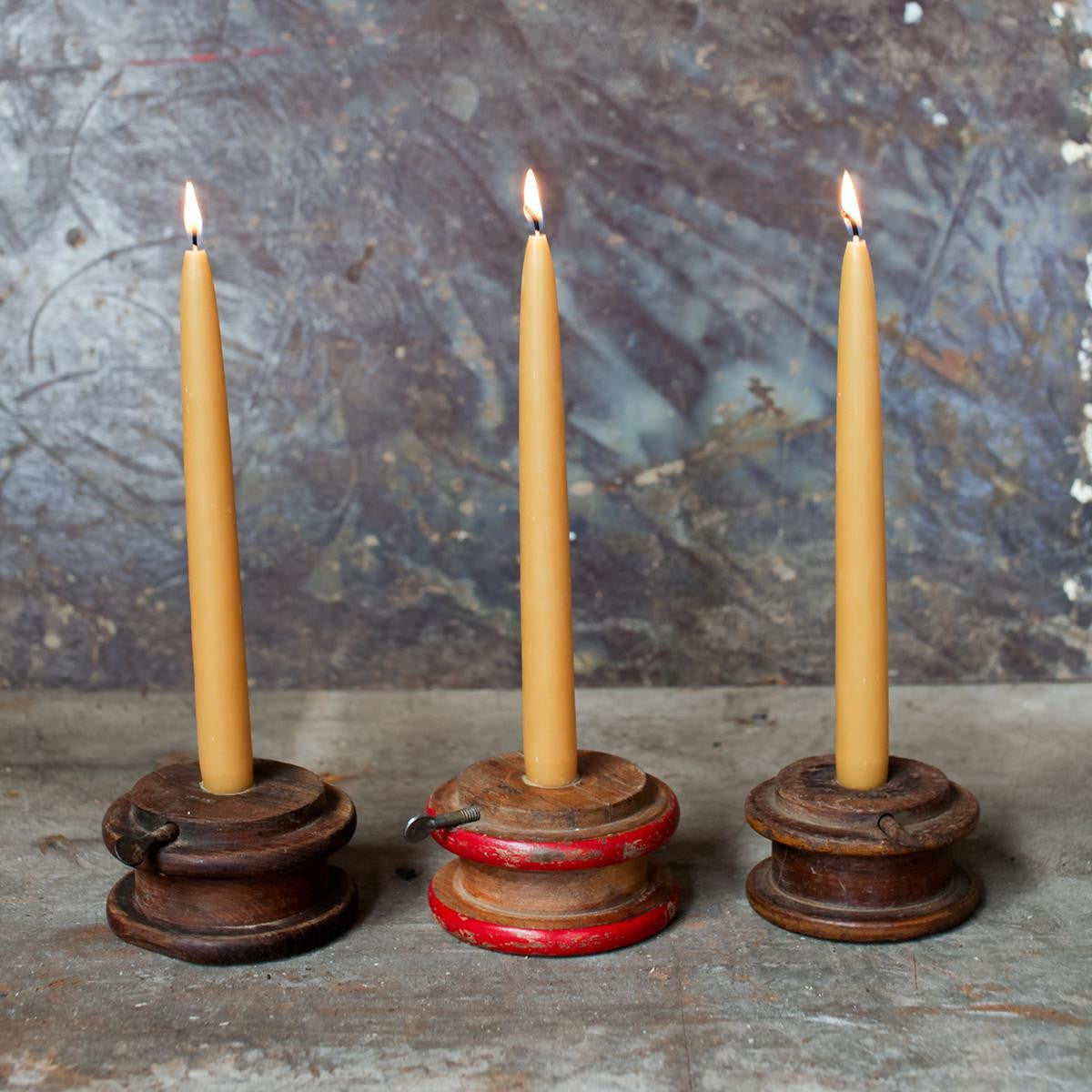 ... Reclaimed Fair Trade Wood Pully Candle Holder - Candlestick Holders -  Shop Nectar - 3 - Reclaimed Fair Trade Wood Pully Candle Holder SHOP NECTAR