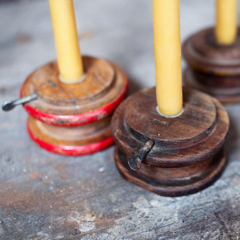 Reclaimed Fair Trade Wood Pully Candle Holder - Candlestick Holders - Shop Nectar - 1