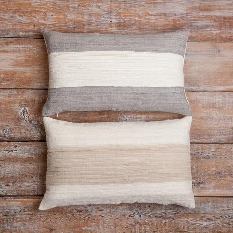 Fair Trade River Rectangular Throw Pillow - bedding-textiles, Creative Women, decor, decorative-pillows, fair-trade, pillows, pillows-throws, shabby-chic, supporting-women, white