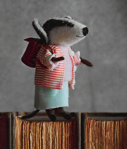Roost Bookish Badger Ornaments