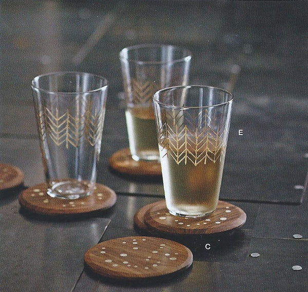 Roost Brighton Gold Tumbler - Brighton, Etched, etched glass, etched glassware, glass, glassware, glassware-1, gold, Hand Crafted, hand etched, kitchen-dining, Mouth Blown, Roost, tumblers-cocktail-glasses