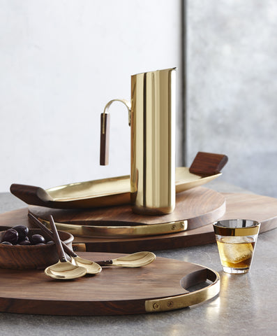 Roost Curvo Serving Boards - brass, Indian, Italian, kitchen-dining, Roost, Rosewood, serveware, serving boards, serving-platters, tabletop-dinnerware, tabletop-dinnerware-1, Tutto Finisce a Tarallucci e Vino