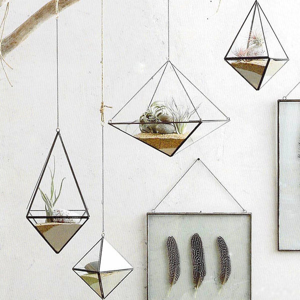 Roost Geo Hanging Terrariums - accent-details, assorted-styles, charms, decor, garden-outdoor, geometric, Gift, new-arrivals-in-decor, planters, pots-planters-stands-terrariums, Terrarium