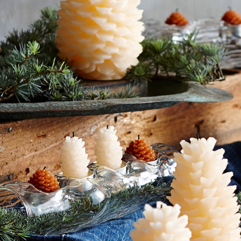 Roost Pine Cone Tealights - assorted-styles, Brown, candles, Candles & Holders, candles-diffusers-incense, christmas, dark brown, decor, decorative, pine cone, Roost