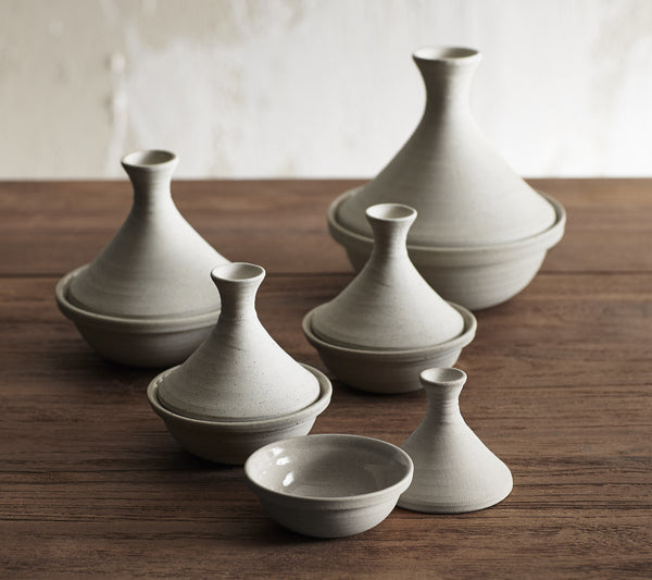 Roost Safi Stoneware Tagines - assorted-styles, condiments, grey, kitchen-dining, mushroom, Oyster, Roost, Safi, sauces, serveware, Set, Stoneware, table setting, tabletop, tabletop-dinnerware, Tagine, tagines