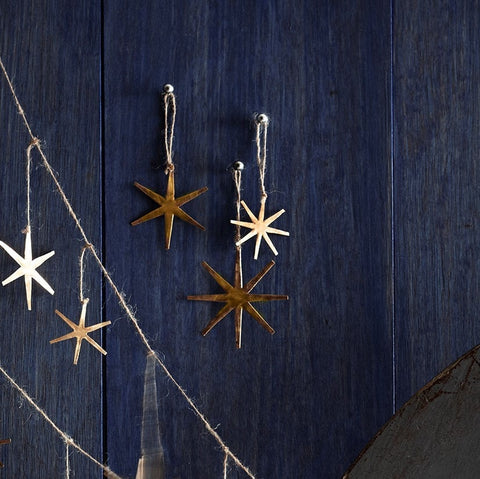 Roost Starburst Brass Garland - brass, Children's Decor, christmas, decor, garland, Holiday, holiday-decor, ornament, room-decor, Roost, star, star gazing, Starburst