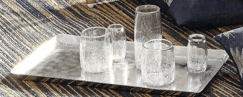 Roost Handmade Crackle Glassware