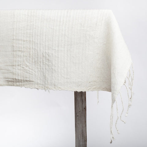 Fair Trade Ribbed Ethiopian Tablecloth - Tablecloths - Shop Nectar