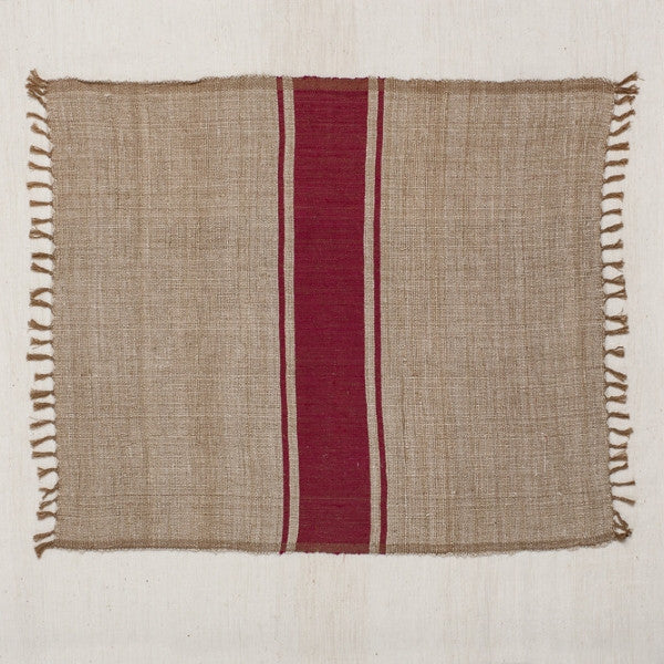Fair Trade Striped Burlap Placemats - Placemats - Shop Nectar - 1
