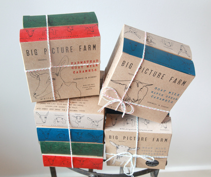Big Picture Farm Goat Milk Caramels - american-made, assorted-styles, Big Picture Farm, caramel, caramels, edibles, goat milk, handmade, sweets-savories, usa
