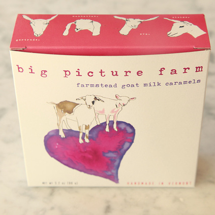 Big Picture Farm Goat Milk Caramels—Heart Box - american-made, assorted-styles, Big Picture Farm, caramel, caramels, edibles, goat milk, handmade, new-arrivals-in-gifts-indulgences, sweets-savories, usa