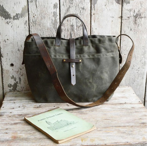 Peg And Awl Small Waxed Canvas Tote - Bags - Shop Nectar - 1