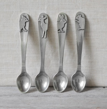 Beehive Kitchen Pewter Baby Feeding Spoon - Squirrel -  - Shop Nectar