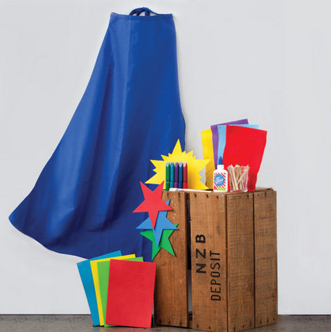 Design Your Own Blue Superhero Cape Crafting Kit - Activity Kits - Shop Nectar - 4