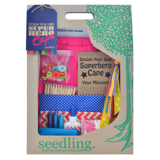 Design Your Own Pink Superhero Cape Crafting Kit - Activity Kits - Shop Nectar - 1