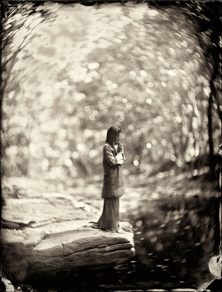 Sharmila Desai, Francesco Mastalia, photography, photograph, black and white, collodion process, nature, portrait, flower, flowers, garden, botany, yoga