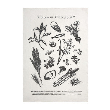 Sir Madam Food For Thought Tea Towel - Hand Towels - Shop Nectar - 1