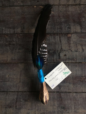 Handcrafted Traditional Native American Smudge Fans - feather, feathers, gifts-for-her, handmade, one-of-a-kind, smudge fan, smudge fans, smudge feather, smudge feathers