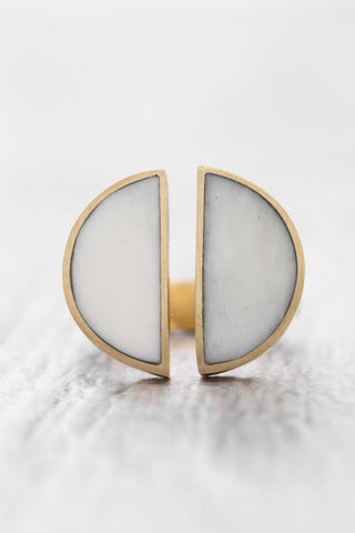 Soko Fair Trade Split Moon Ring