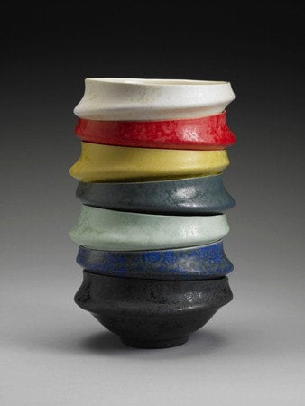 Handmade Cast Porcelain Small Stacking Bowls