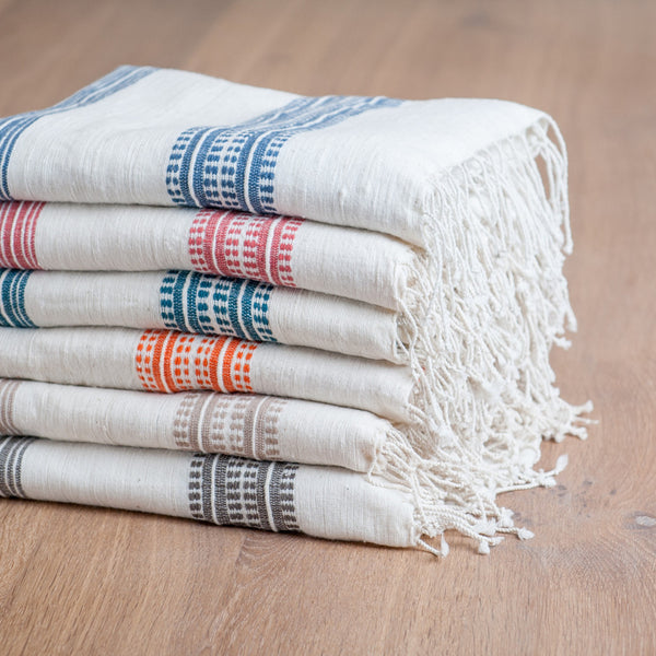 Fair Trade Striped Turkish Bath Towels - Bath Towels - Shop Nectar - 1