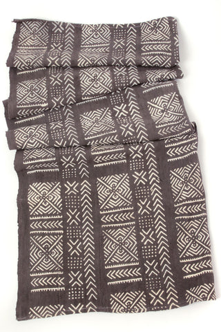 Fair Trade Twilight Mudcloth Throw Blanket from Mali - accessories, africa, african, african decor, african design, african made, baby blanket, bedding-textiles, blanket, bohemian-chic, Boho Chic, cotton, day, decor, Eco, eco-friendly, Gift, gifts, gifts-for-her, gifts-for-him, gifts-for-the-couple, gray throw, Hand Painted, Handcrafted, handmade, handwoven, mothers, mudcloth, natural cotton, new-arrivals-in-decor, organic, organic-cotton, pillows-throws, quilts-coverlets-throws, supporting-women