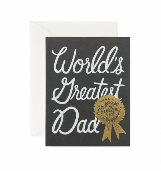 Rifle Paper Co. World's Greatest Dad Card - Greeting Cards - Shop Nectar - 1