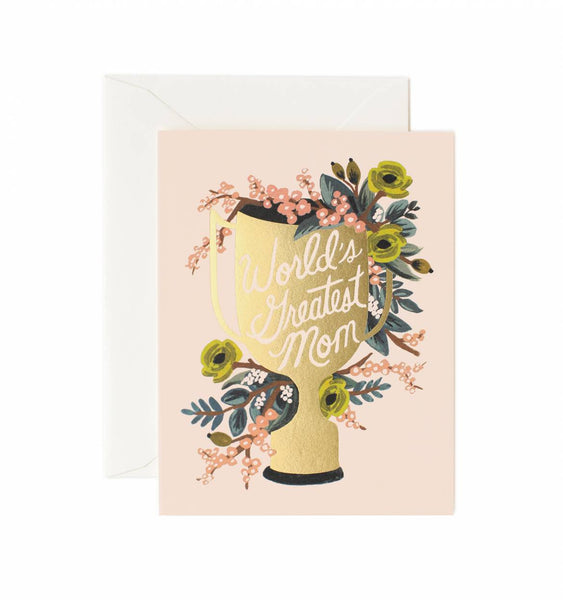 Rifle Paper Co. World's Greatest Mom Card - Greeting Cards - Shop Nectar - 1