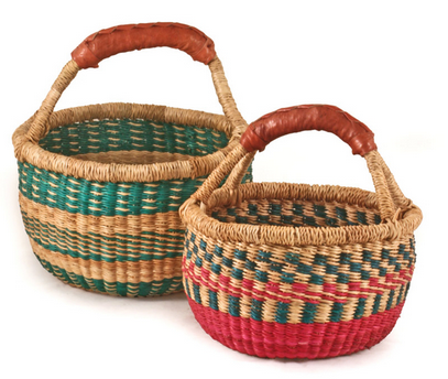 Children's African Mini Market Basket - africa, african, Basket, baskets, bathroom, bohemian-chic, Boho Chic, children, children's, decor, eco, Eco Kids, fair-trade, Hand Woven, handmade, organizing-storage, storage, sustainably, sustainably harvested