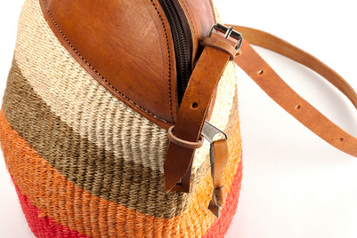 Fair Trade Hand Woven Citrus Purse - accessories, accessory, africa, African, bag, bags, bags-clutches-wallets, bags-purses, Bohemain, bohemian-chic, boho, Boho Chic, bright, chic, colorful, day, days, eco, eco friendly, fair, fair-trade, for her, Gift, gifts, hand bag, Hand Woven, handmade, leather, mother, mothers, purse, purses, shopping, Sustainable, sustainably, sustainably harvested, Tote, Totes, trade