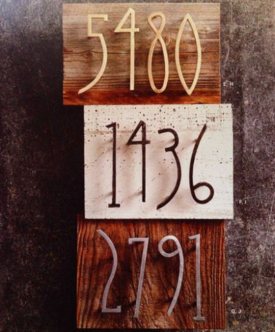 Roost Artisan Iron Forged House Numbers - accents, antique, Artisan, assorted-styles, brass, garden-outdoor, German Art Nouveau, house-numbers, iron, new-arrivals-in-garden-outdoor, Nickel, Roost