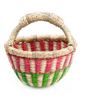 Children's Tiny Market Basket - africa, african, Basket, baskets, bathroom, bohemian-chic, Boho Chic, children, colorful, decor, eco, Eco Kids, fair-trade, Hand Woven, handmade, organizing-storage, storage, sustainably, sustainably harvested