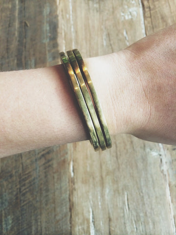 Meyelo Fair Trade Brass Square Edge Bangle - accessories, accessory, bangle, bangles, bohemian, boho, Bracelet, bracelets-bangles-cuffs, brass, chic, clean-water, Cuff, day, Day of the Dead, Eco, eco friendly, education, fair, fair-trade, for her, gift, gifts, gifts-for-her, gifts-for-the-occasion, golden, handmade, her, jewelry, Meyelo, mother, mothers, Stacking, supporting-women, Sustainable, sustainably, trade