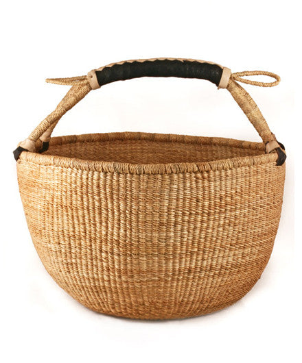 Basic Bolgatanga Shopper Basket - africa, african, baskets, bathroom, Boho Chic, decor, eco, fair-trade, Ghana, Hand Woven, handmade, organizing-storage, storage, sustainably, sustainably harvested