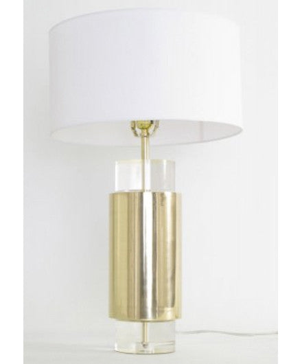 Lucite Table Lamp: Brass and Lucite Table Lamp Set - Table Lamps - Shop Nectar - 1 ...,Lighting