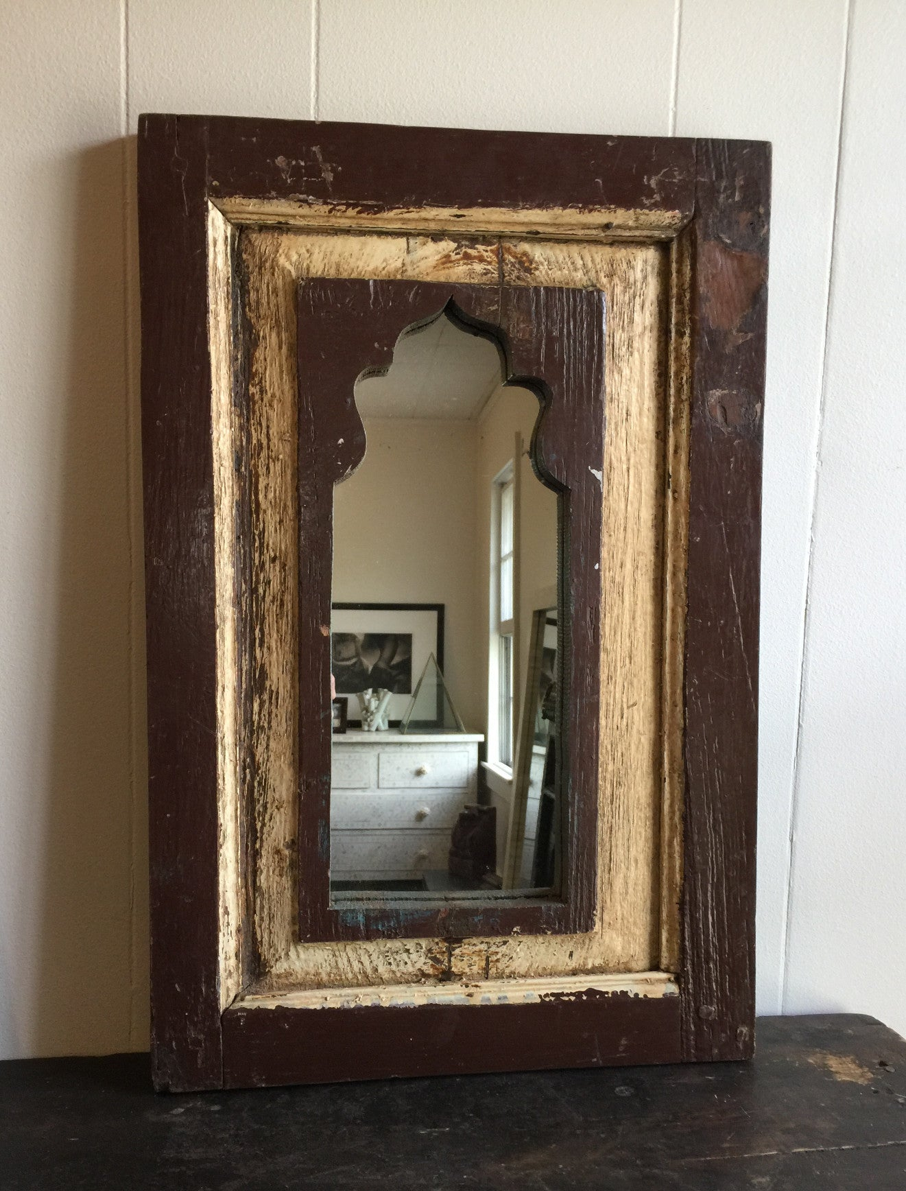 ... Antique Indian Mirror - Hand Carved Wood - Reclaimed wood - Shop Nectar  ... - Assorted Rustic Arched Wooden Wall Mirrors SHOP NECTAR